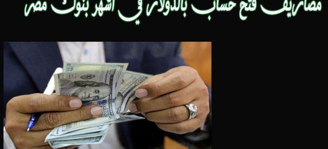 مصاريف فتح حساب بالدولار في اشهر بنوك مصر الحكومية والخاصة والمستندات المطلوبة